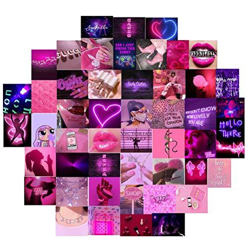 Lubudup 60 delige collage poster kit voor muur esthetiek, esthetische foto's voor esthetische muur collage kit prints…