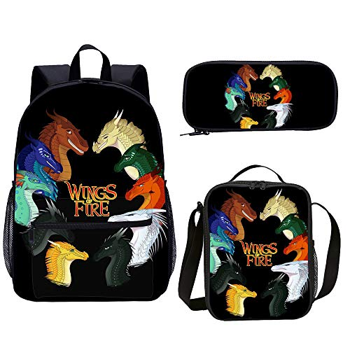 Wings Of Fire School Backpack Set 3 Pcs Teenager 3D print Cartoon School Book Bag Fashion Student Backpack (wings of fire2)
