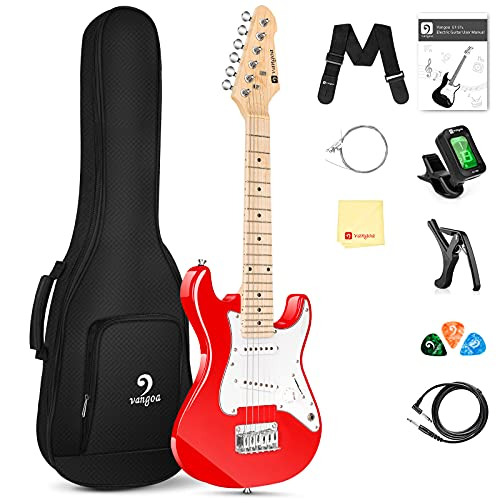 Vangoa 30 Inch Kids Electric Guitar Starter Kit for Beginners with Digital Tuner,...