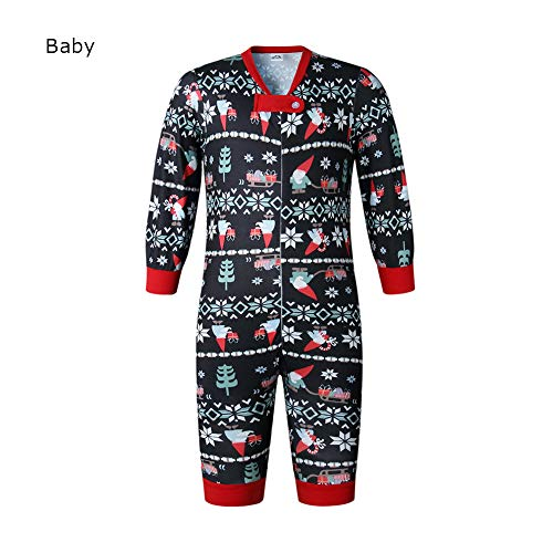 Newooh Christmas Family Matching Winter Holiday Pajama PJ Pjs Sets, Parent-Child Casual Print Sleepwear Nightwear Lounge Set