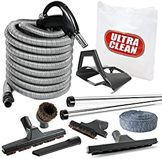 Ultra Clean AM2015001 Deluxe Bare Floor and Carpet 30 Foot Hose and Accessories Central Vacuum Kit, ft