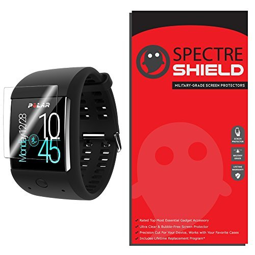 [6-Pack] Spectre Shield Screen Protector for Polar M600 Case Friendly Polar M600 Screen Protector Accessory TPU Clear Film