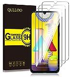 QULLOO Filme de Vidro Temperado para Samsung Galaxy A30 / Galaxy A50 Protetor de Tela Protetora 2 Pacotes de Alta Definição Transparente com Filme Anti-risco para Samsung Galaxy A30 / Galaxy A50