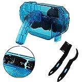 Cokomono - Pulitore per catena bicicletta, per bicicletta, con scrubber e spazzola pignoni, set per la pulizia della catena della bicicletta, blu