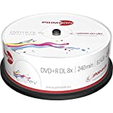 MediaCom IT-Distribution GmbH Primeon 2761252 DVD + R Media (Velocidad De 8X, 8,5 GB, 240 Minutos, 25Er Spindel)