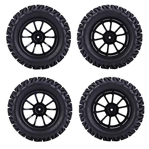 keyren Neumático de Rueda RC Neumático de Coche RC Accesorios de Coche RC Neumático RC Neumáticos y Ruedas RC Taller de reparación para la Industria(Black)