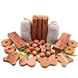 Venxic Cedar Blocks for Clothes Storage, Aromatic Cedar Wood Balls Hanger Chips Sachets Planks Clothes Protector, Closet Drawers Organizers Accessories Freshener (42 Pack)