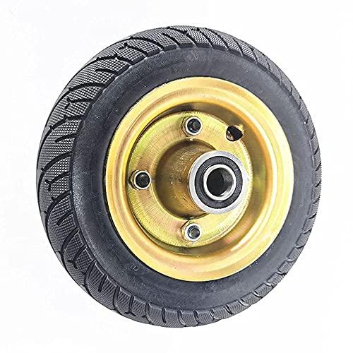 WYDM 8 Pulgadas 2.50-4 Antideslizante Resistente al Desgaste Llantas sólidas para Carro no Inflable, Ruedas de Acero al Carbono, Adecuado para Accesorios de jardín/Carro Plano, llanta sólida