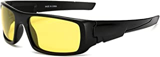 GR Men's Polarized Sunglasses Outdoor Riding Glasses Windshield Sunglasses Colorful Outdoor Seaside Driving Night Version (Color : Yellow)