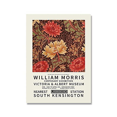 William Morris exposición vintage lienzo pintura carteles e impresiones arte de pared cuadros hogar pinturas en lienzo sin marco A2 20x30cm