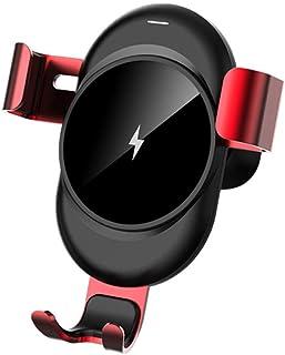 Telefonhållare klämma vid luftutsläppet trådlös laddningshållare för iPhone, Samsung, Huawei, Sony, Htc,Red
