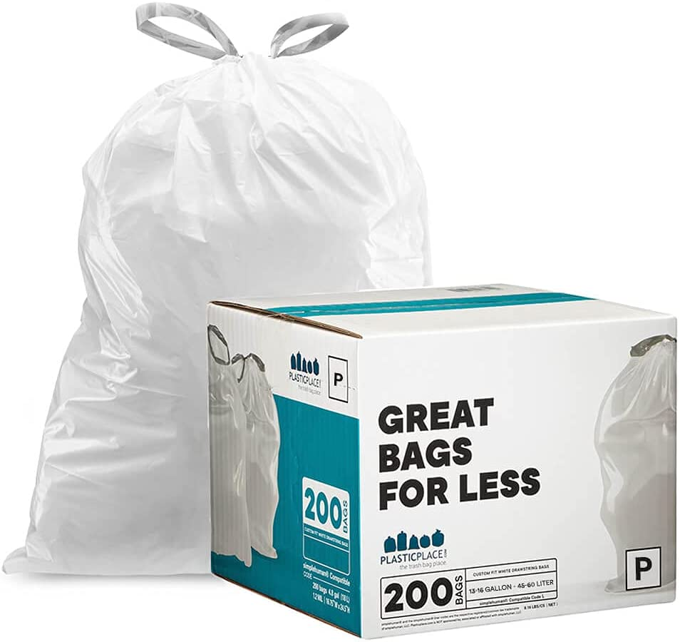 Plasticplace simplehuman x NEW before selling Code Drawstring Compatible Ranking TOP6 P Garbag