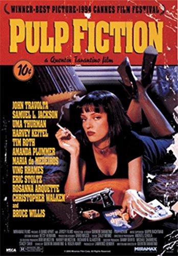 Pyramid America Pulp Fiction Uma Thurman Mia Wallace Smoking Tarantino Film Uma Thurman Rauchen Film 18x26 inches 3D Lenticular Poster