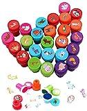 Ucradle 26 Pezzi Timbri Giocattolo Sigillo Animale Stamper per Bambini Tag di personalità DIY Animali Timbri Artigianato Educativo Feste di Compleanno, Regali per Feste per Bambini