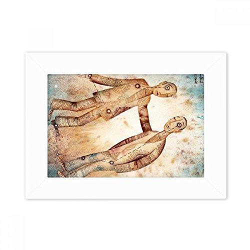 DIYthinker mei juni Gemini sterrenbeeld Zodiac Desktop fotolijst wit beeld kunst schilderij 5X7 Inch