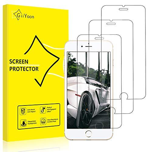 """GiiYoon-3 Piezas Protector de Pantalla para iPhone 6/6s Plus Cristal Templado,[Sin Burbujas] [Alta Definicion] [9H Dureza] Vidrio Templado HD Protector Pantalla para iPhone (5.5"""")"""