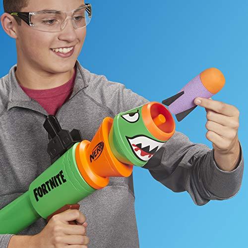 Nerf Fortnite RL Blaster -- Fires Foam Rockets -- Includes 2 Official Nerf Fortnite Rockets -- For Youth, Teens, Adults