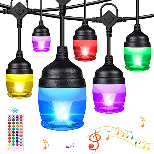 Sinvitron 37ft LED Color Changing String Lights Outdoor