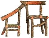 Top Collection Enchanted Story Gartenstuhl, Feenmöbel, Vater und Sohn, Holz, Dekoration für den Außenbereich