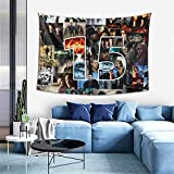 FT FENTENG Popular Wall Tapestry, Cartoon Bedding Wall Hanging Art Decor, Cozy Throw Bedspread for Kitchen Living Room Decoration, 60x40 Inch
