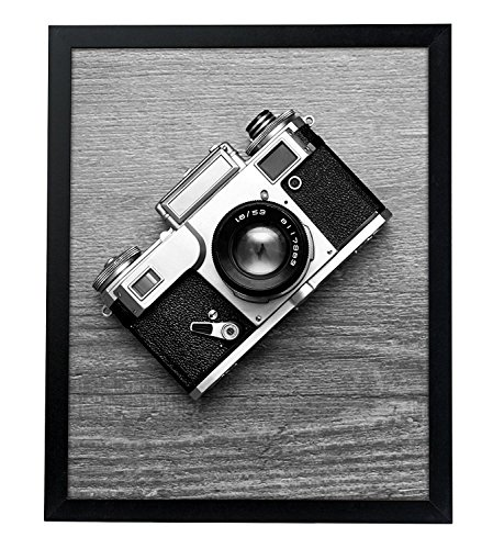 Americanflat 16x20 Poster Frame in Black with Polished Plexiglass - Horizontal and Vertical Formats with Included Hanging Hardware