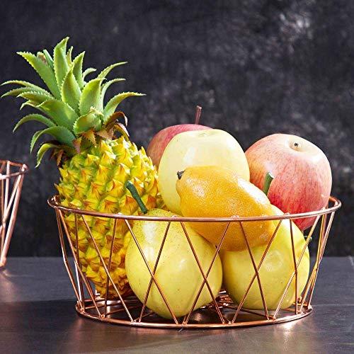 HTL Alenamiento de Frutas Rosa Oro Simple Fruta Casa Sala de Estar Mesa de Café Fruta de Fruta Fruta