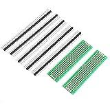 LY-YY 買い物カート 折りたたみ式 20×80ミリメートル両面PCBプロトタイプボード(2 PCS)+ 2.54ミリメートル1x40ピンブレイクアウェイストレート男性ヘッダ(5PCS) アルミ合金製 大容量 軽量