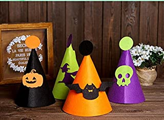 Perfect Party Decoration Holiday Accessories Birthday Party Props Halloween Hat Children Funny Witch Hat Skull Cap_Purple