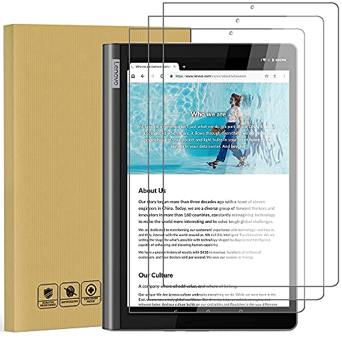 Akancy [Paquete de 3 Vidrio Templado para Tableta Lenovo Yoga Smart Tab 10,1 Zoll 2019,Dureza 9H, Protector de Pantalla con Revestimiento oleofóbico, Transparente