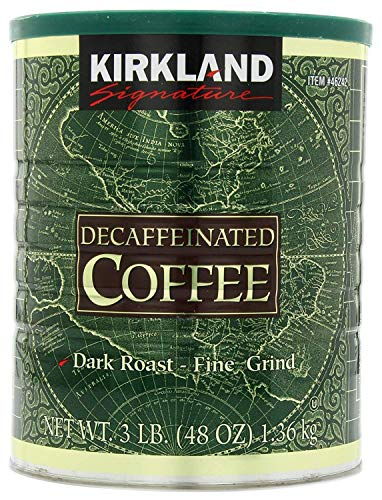 Kirkland Signature Dark Rost Fine Grind Decaf Arabica Coffee, 48 Ounce - PACK OF 3