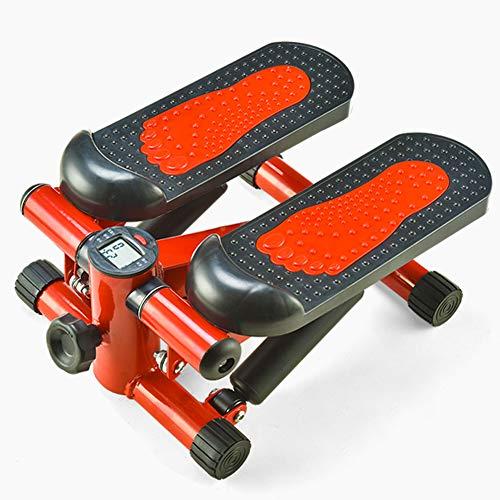 WIG-WYF Stepper Multifonctionnel, Mini Stepper Portable, Stepper à La Maison, Fitness Twist Stepper, Femme Ménage Minceur Machine Red