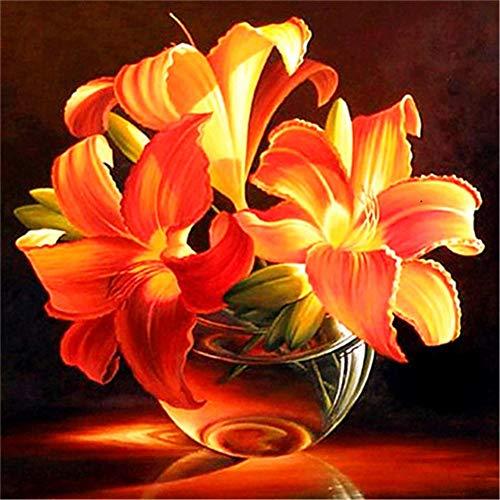 DIY 5D Kit de Pintura de Diamante Conpleto flor Diamond Painting Craft del Imịtạciòn de Bordado de Punto para Salones o dormitorios para decoraciòn Navịdad 25x25cm A913