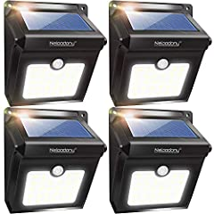 【Ultra-Bright Outdoor Solar Light】High-powered 28 led beads provide excellent illumination of up to 400 lumens with size of 5.1*4.3*2.7 inches, 6.77 ounces, which makes a clear vision in the dark and provides security for your home. 【High-Efficient S...