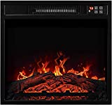 WWX 18' Embedded Electric Fireplace Insert Remote Heater Adjustable Flame 1400W