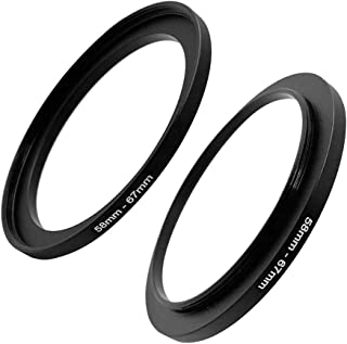 58mm-67mm Step Up Ring(58mm Lens to 67mm Filter, Hood,Lens Converter and Other Accessories) (2 Packs), Fire Rock 58-67 Aer...