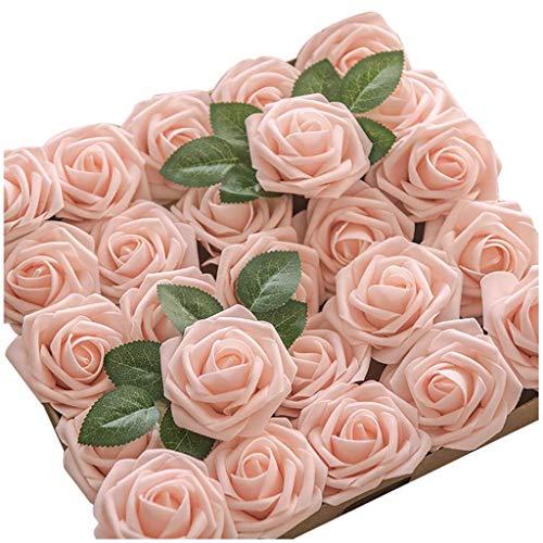 SilenceID 25 Pezzi di Sapone Fiore di Rosa profumato Floreale Bagno di Rose Fiore Ospiti a Forma di Sapone Petali Migliori Regali per Anniversario/Compleanno/Matrimonio/Scatola di San Rosa