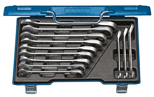 GEDORE Ring-Maulschlüssel-Satz mit umschaltbarer Ratsche 7 UR-012 / 12-tlg. Schraubenschlüssel- und Umschalt-Ratschenschlüssel-Set aus Vanadium Stahl für Schrauben & Muttern mit Ø von 8 - 19 mm