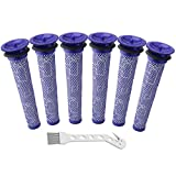 Wolfish 6 Pack Filter Replacements for Dyson Absolute Animal Motorhead V8+, V8, V7, V6, DC62, DC61, DC59, DC58 Vacuum, Replaces Part 965661-01 (DC59 6Pack)