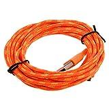 Gaetooely Cable de Tela Trenzada USB Cable de Datos y sincronizacion Cable de Cargador para telefono movil, Naranja