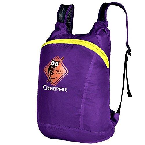 Backpack éclairage léger Sac à bandoulière/Pliante Fixation Sac d'alpinisme/Petit Sac à Dos d'équitation/Sac Skin-Purple 20L