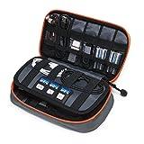 bagsmart Elektronische Tasche Reise, Elektronik Zubehör Tasche Doppelte Schichte Kompakt für USB...