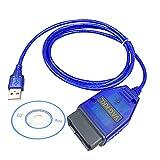 OBD2 Cable USB Escáner automático Herramienta de escaneo Soporte V A/G-COM KKL 409.1 OBD2 Cable de diagnóstico de interfaz USB para A2 A3 A4 Cabriolet A6 A8 S2 S3 TT Alhambra Altea Arosa, etc.