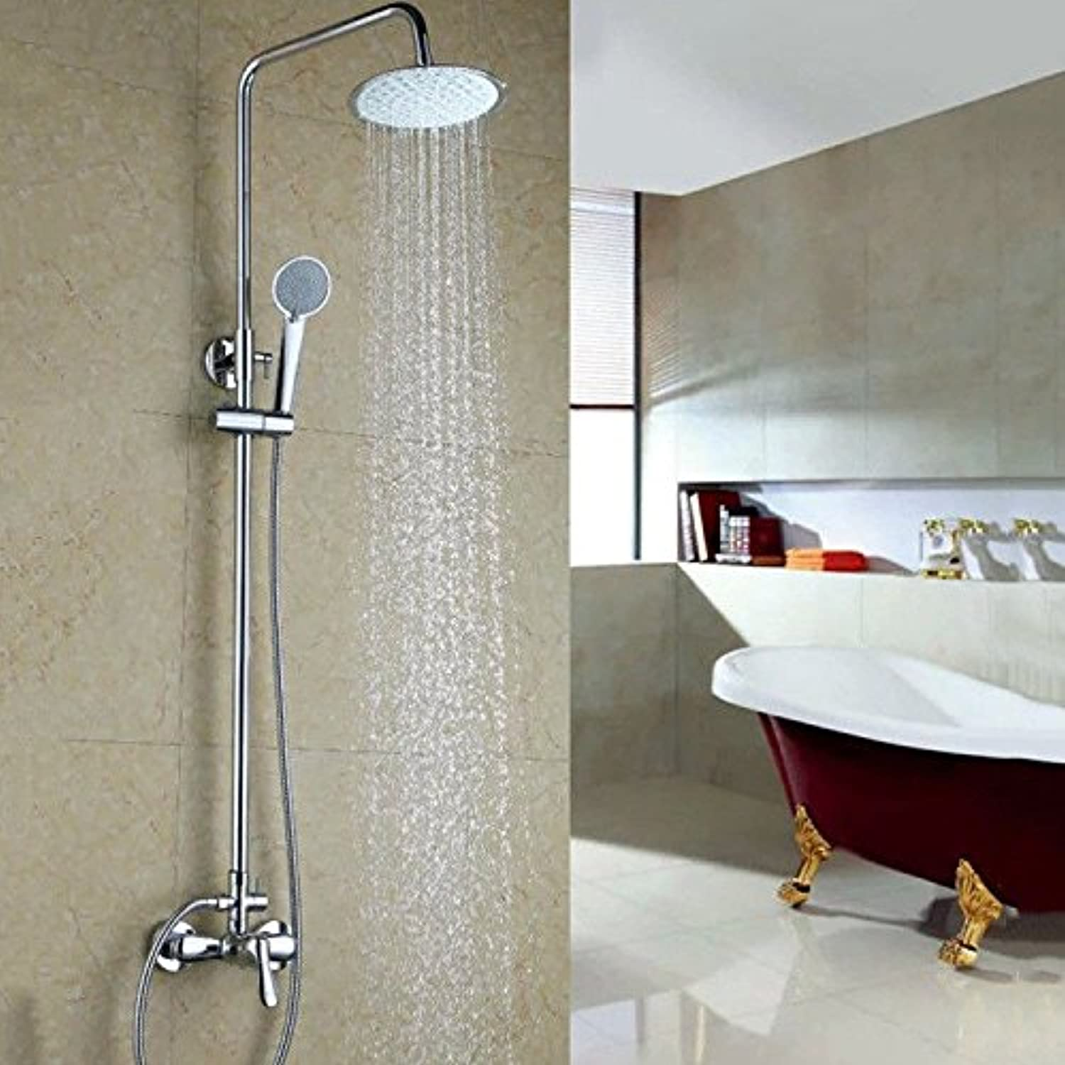 Lalaky Taps Faucet Kitchen Mixer Sink Waterfall Bathroom Mixer Basin Mixer Tap for Kitchen Bathroom and Washroom All Copper Hot and Cold Pressurization Can Be Raised and Lowered