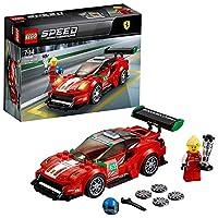 """Include la minifigure del pilota della Ferrari """"Scuderia Corsa"""" La Ferrari 488 GT3 """"Scuderia Corsa"""", costruibile e pronta per le competizioni, è dotata di abitacolo per minifigure con parabrezza rimovibile, ruote con pneumatici in gomma Rimuovi il pa..."""