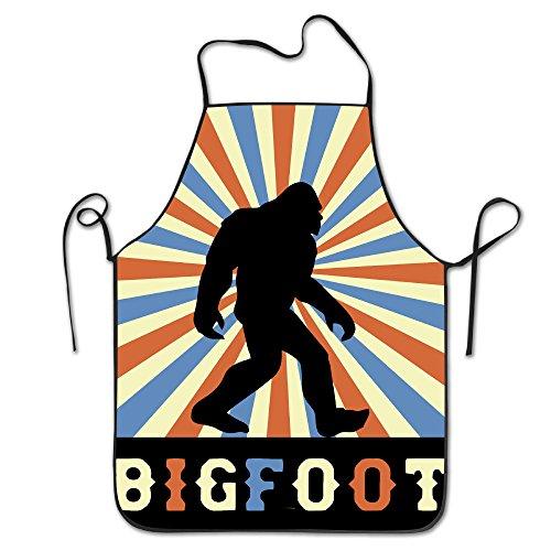 Bigfoot Vintage Sasquatch Unisex Koken Keuken schorten Chef Schort Bib