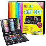 NIMNIK Valigetta Colori per Bambini - Set Disegno e Pittura - Valigetta dell'Artista | Set Pennarelli Matite Pastelli Colorati | Ottima Idea Regali per Bambini di 3 4 5 6 7 8 9 10 Anni