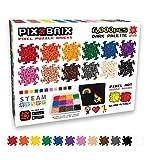 Pix Brix Pixel Art Puzzle Bricks – 6,000 Piece Pixel Art Container, 12 Color Dark Palette – Interlocking Building Bricks, Create 2D and 3D Builds Without Water or Glue – Stem Toys, Ages 6 Plus