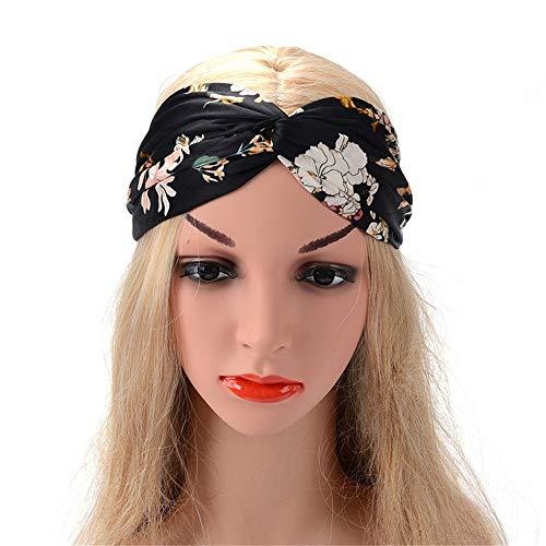 Cintas para mujer Twisted banda linda del pelo accesorios perfectos for el entrenamiento de la yoga o los viajes modernos Estilo elástica Las mujeres de las vendas del turbante Accesorios de pelo lind