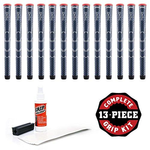 Winn Dri-Tac Standard Grip Kit (13-Piece), Navy Blue