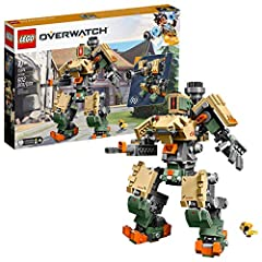 Build a collectible and realistic LEGO version of the Overwatch Bastion posable action figure that can be reconfigured from recon tank mode to sentry mode—no re-assembly required. This creative play toy robot model set of Overwatch defense hero Basti...